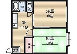 新淀ハイム[5階]の間取り