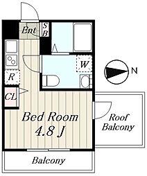 JR山手線 池袋駅 徒歩13分の賃貸マンション 4階1Kの間取り