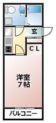 Kヒルズ津田沼[2-F号室]の間取り