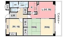 アメニティコート甲子園I(B)[2階]の間取り