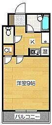 キャンパスシティ太宰府[416号室]の間取り