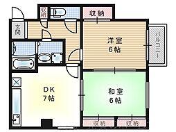 メゾンN&k[3階]の間取り