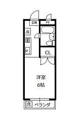 サンアベニュー増島[2階]の間取り