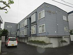 北海道札幌市東区北八条東13丁目の賃貸アパートの外観