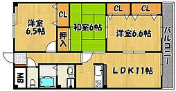 兵庫県神戸市西区小山2丁目の賃貸マンションの間取り