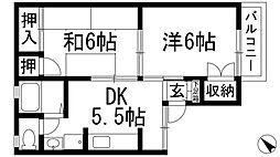 セジュールマーチ[1階]の間取り
