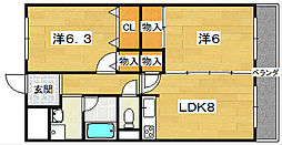 カーサ・クボ[3階]の間取り