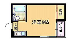大阪府大阪市旭区生江3丁目の賃貸マンションの間取り