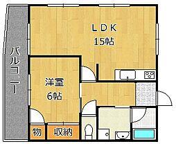 [テラスハウス] 福岡県北九州市門司区清滝3丁目 の賃貸【/】の間取り
