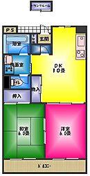 レジデンスユキ[3階]の間取り