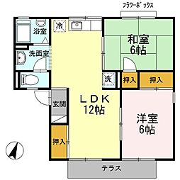 愛知県名古屋市名東区高針台1の賃貸アパートの間取り