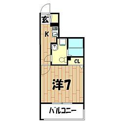 櫻樹館[5階]の間取り