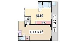 名村木村ビル[3階]の間取り