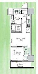 東京メトロ東西線 東陽町駅 徒歩23分の賃貸マンション 2階1DKの間取り