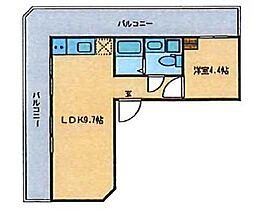 JR山手線 駒込駅 徒歩3分の賃貸マンション 3階1LDKの間取り