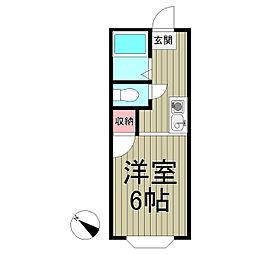 ピュアハイツII[205号室]の間取り