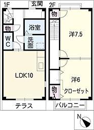 [タウンハウス] 三重県松阪市内五曲町 の賃貸【/】の間取り