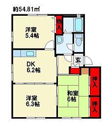 リジェール尾倉パートIIC棟[1階]の間取り