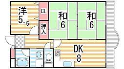 ピュアネスDoi[4G号室]の間取り