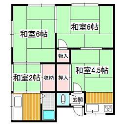 松井ハイツA[2階]の間取り