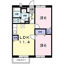 エステート・21[2階]の間取り
