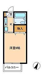 サンハイツ ニーノ[2階]の間取り