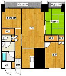 錦町チサンマンション[8階]の間取り