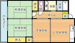 サンフル永犬丸 A棟[4階]の間取り
