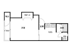 たんぽぽ11号館[101号室]の間取り