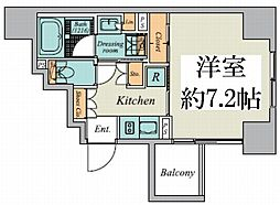 東京メトロ丸ノ内線 御茶ノ水駅 徒歩9分の賃貸マンション 4階1Kの間取り