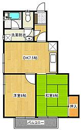 須和田ガーデン[2階]の間取り
