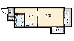 第1国本エレガンス新大阪[3階]の間取り