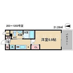 エステムコート梅田天神橋IIグラシオ[3階]の間取り