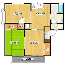 メゾン森PartIII・V[2階]の間取り