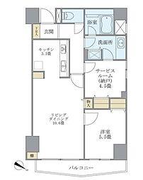 東京メトロ半蔵門線 表参道駅 徒歩14分の賃貸マンション 3階2LDKの間取り