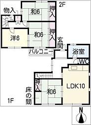 [一戸建] 愛知県尾張旭市桜ケ丘町3丁目 の賃貸【/】の間取り