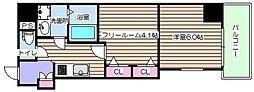 レジュールアッシュ梅田AXIA[7階]の間取り