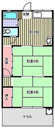 第3コーポ吉岡[103号室]の間取り