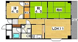 レークサイド田中[2階]の間取り