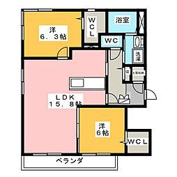 Maison La PaisibleII[2階]の間取り