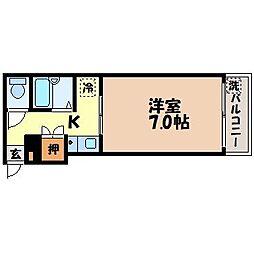 長崎県長崎市桶屋町の賃貸マンションの間取り