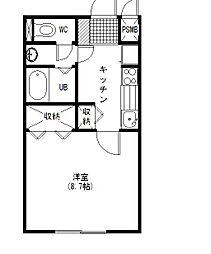 茨城県つくば市春日4丁目の賃貸マンションの間取り