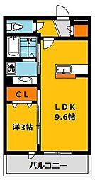 クレストコートA[1階]の間取り