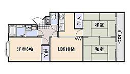 広島県広島市西区庚午北3丁目の賃貸マンションの間取り