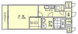エンクレスト博多駅東[4階]の間取り