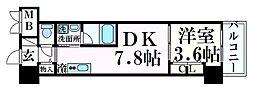 JR東海道・山陽本線 元町駅 徒歩7分の賃貸マンション 3階1DKの間取り
