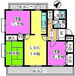 カサグランデ太宰府[4階]の間取り