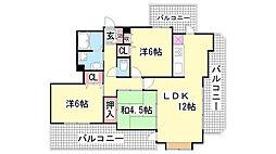 アーバニス神戸東山[205号室]の間取り