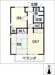 ネオ・カーサ 岐西[1階]の間取り