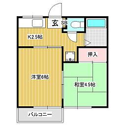 メゾンド泉II[2階]の間取り